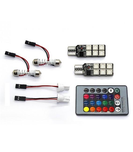 LED Positionsljus T10 - W5W RGB med Fjärrkontroll