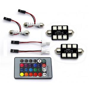 LED Positionsljus Spollampa - Festoon 42mm RGB med Fjärrkontroll
