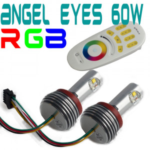 H8 BMW angel eyes RGB 60W