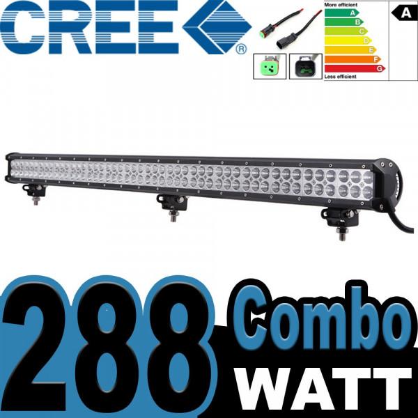 Led extraljusramp 288W CREE COMBO
