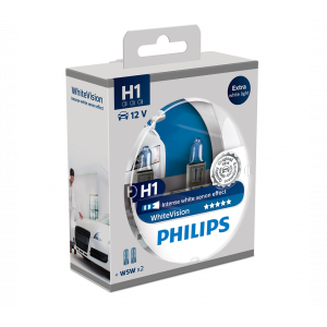 Philips WhiteVision Xenon Effect strålkastarlampor H1