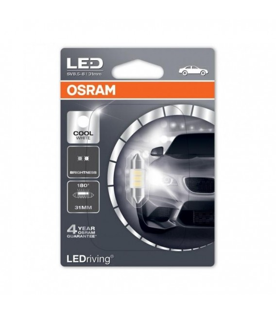 OSRAM LED-drivning C5W Cool White 31mm 180 ° (Single)