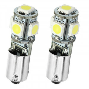 Led Diodlampa H6W - BAX9s 5 SMD Canbus 2-pack