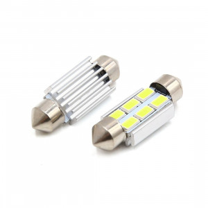 Spollampa / festoon c5w SV8.5 Led 6 5630 smd Canbus 36mm 2-pack