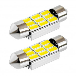 LED Spollampa - Festoon - C5W 39mm canbus 9 smd 2-pack
