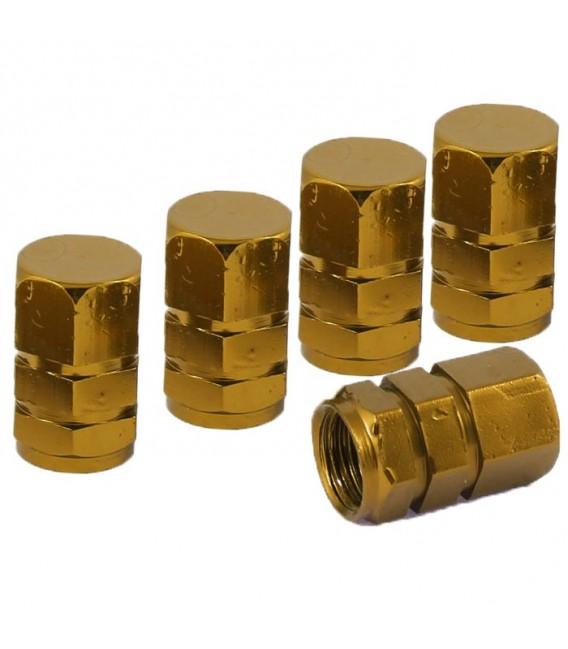 Ventilhattar hexagon 5-pack Guld