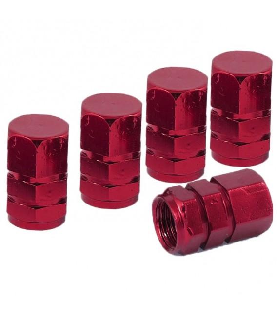 Ventilhattar hexagon 5-pack Röd