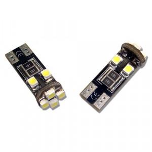 Diodlampa led W5W - T10 8 SMD canbus Xenonvit