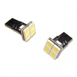 Led diod lampa T10 W5W 4st 5050 SMD Top Shine Canbus xenonvit 2-pack