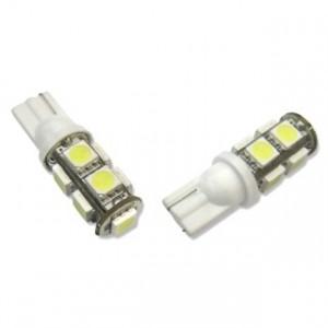 Led diod lampa W5W - T10 9st 5050 smd SMD Xenonvit
