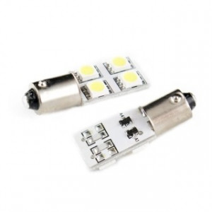 Led diodlampa Ba9s - H4W side shine 4 SMD