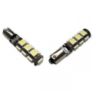 Led diod lampa Ba9s - H4W 13 SMD Canbus