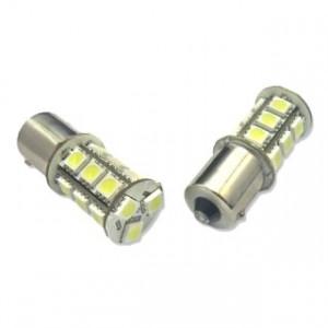 Diodlampa LED Bau15s - PY21W 18 smd Gul 2-Pack