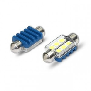 Spollampa / festoon c5w SV8.5 Led 6 5050 smd Canbus 36mm 2-pack