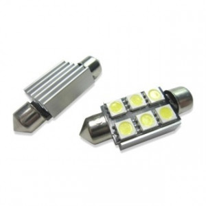 Led diodlampa SV8,5 C5W Spollampa 39 mm Canbus 6 SMD 2-pack