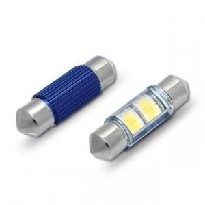 Spollampa / festoon c5w SV8.5 2st Samsung 5252 smd led 39mm 2-pack