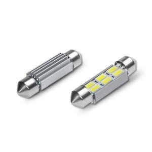 Spollampa / festoon c5w SV8.5 Led 6 5630 smd Canbus 39mm
