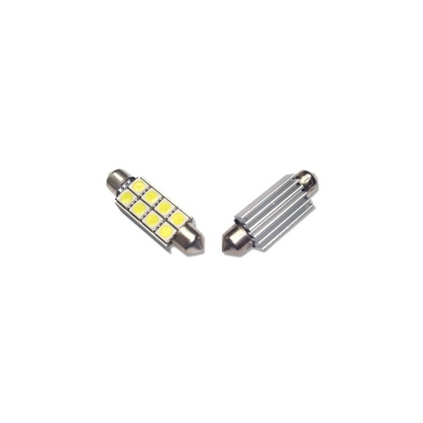 Led diodlampa SV8,5 C5W Spollampa - Festoon 42 mm Canbus 8 SMD 2-pack