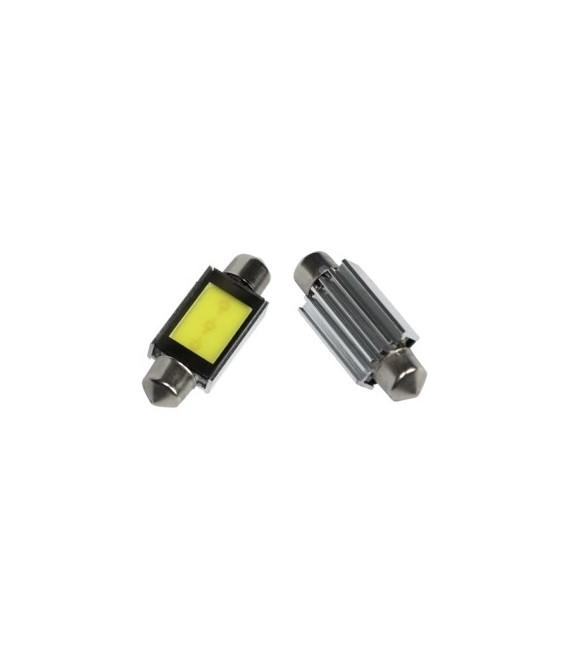 LED Spollampa - Festoon SV8,5 C5W 3W Canbus COB 42mm