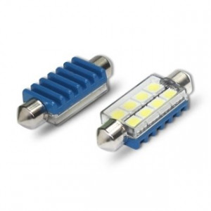 Spollampa / festoon c5w SV8.5 Led 8 5050 smd Canbus 42mm