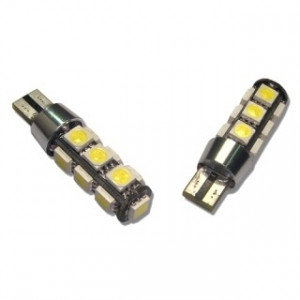 Led diod lampa T10 - W5W 13 st 5050 SMD Canbus