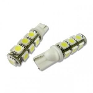 Led diod lampa T10 W5W 13st 5050 SMD xenonvit
