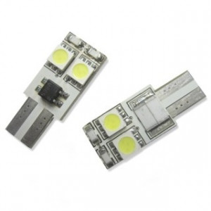 Led diod lampa T10 W5W 4st 5050 SMD Canbus xenonvit