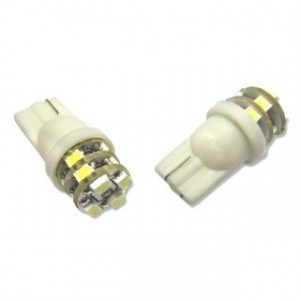 Led Diodlampa T10 W5W 12 SMD 3 lager Xenonvit