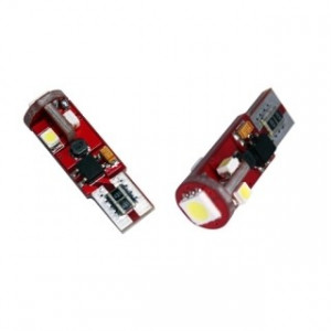 LED diodlampa W5W - T10 5 smd canbus 2-pack