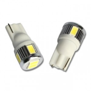 Led diod lampa T10 - W5W 6 st 5630 SMD