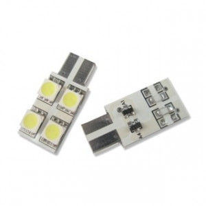 Led diod lampa W5W - T10 4 st 5050 SMD Side shine 2-pack