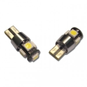 Led diod lampa T10 W5W 5 st 5050 SMD canbus 2-pack