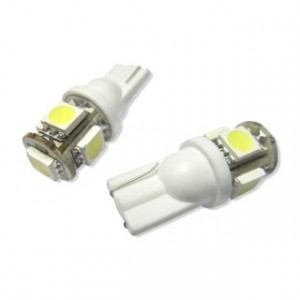 Led Diodlampa 5 SMD W5W - T10 2-pack