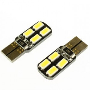 Led diod lampa W5W - T10 8 st 5630 SMD canbus