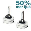 D3S 35W Xenonlampor 50% mer ljus 5500K 2-pack