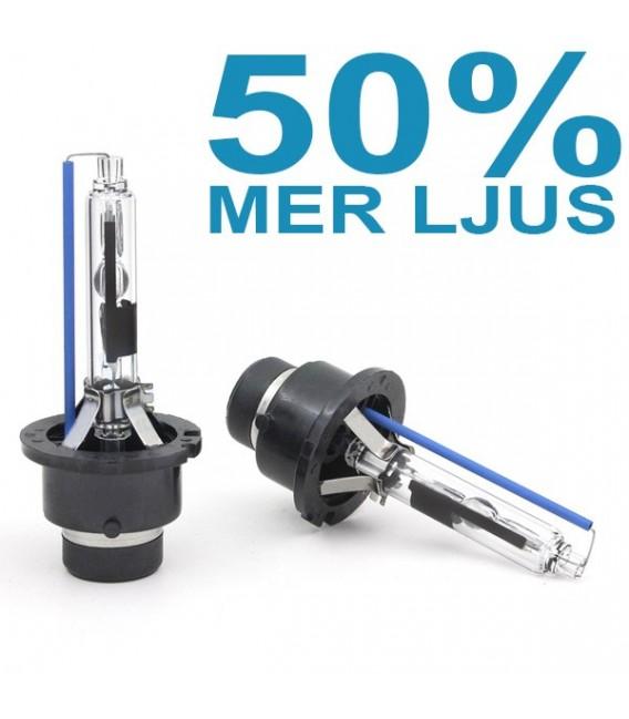 D2R 35W Xenonlampor 50% mer ljus 5500K 2-pack