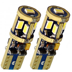 LED diodlampa T10 - W5W med Canbus 9 st Samsung dioder xenonvit