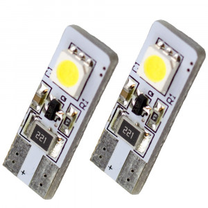 Led Diod lampaT10 - W5W 2st 5050 SMD Canbus