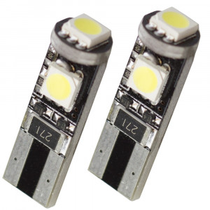 Led diod lampa T10 W5W 3st 5050 SMD Canbus Xenonvit