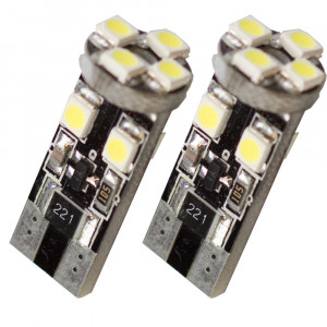 Diodlampa led W5W - T10 8 SMD canbus Xenonvit