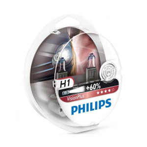 Philips H1 VisionPlus +60% 2-pack