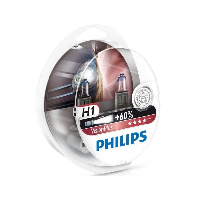 philips h1 visionplus 60 2 pack. Black Bedroom Furniture Sets. Home Design Ideas