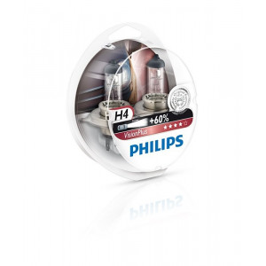 Philips H4 VisionPlus +60% 2-pack