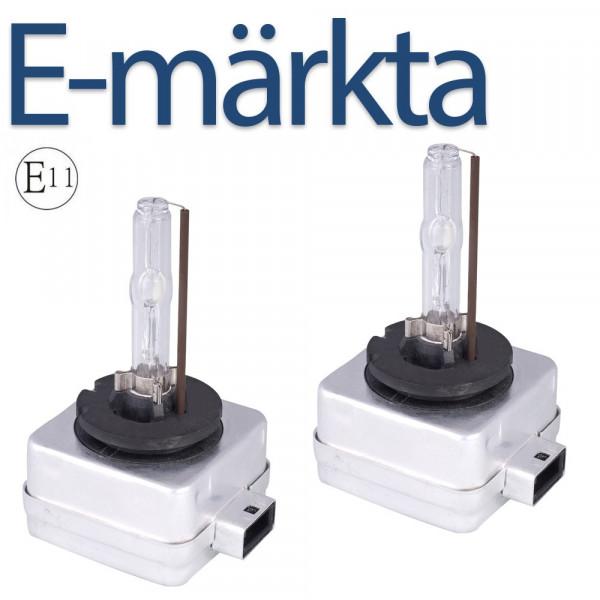 D1S xenonlampor 35W 2-Pack E-Märkta