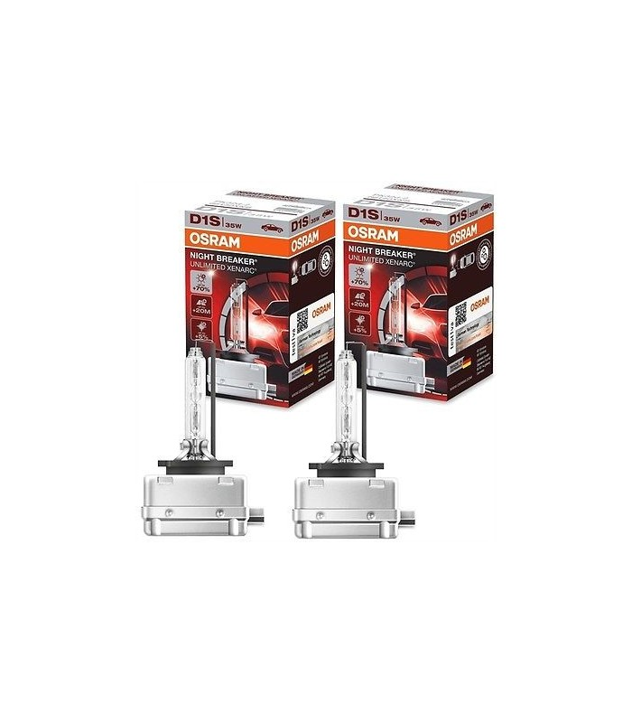d1s 35w osram xenonlampa night breaker unlimited xenarc 2 pack. Black Bedroom Furniture Sets. Home Design Ideas