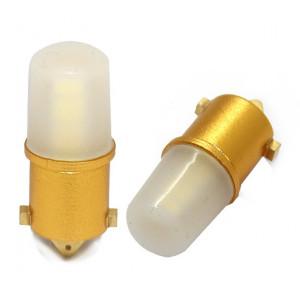 LED diodlampa BA9s - H4W med Canbus 12st smd dioder 2-pack