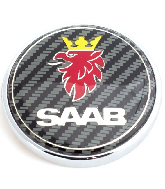 Emblem Saab Carbon Bak